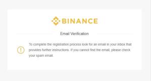 binance email verifikacia