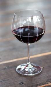 Julianna Fallin Rain Burgundy Red WIne Glass