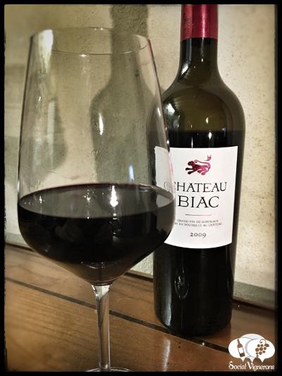 2009 Chateau Biac Cadillac Cotes de Bordeaux Red wine bottle glass Social Vignerons small