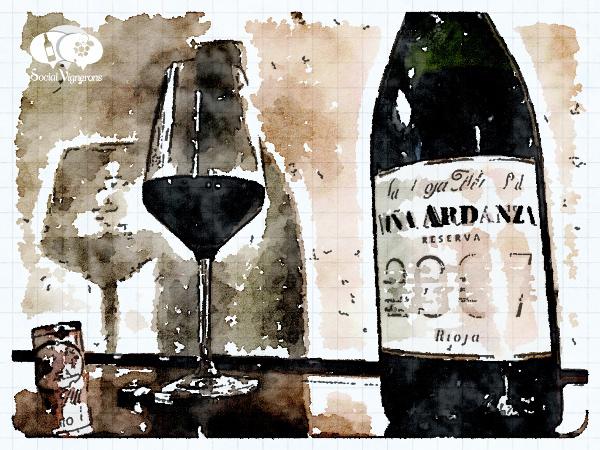 2009 La Rioja Alta Vina Alberdi bodega winery bottle glass wine aquarel Social Vignerons small