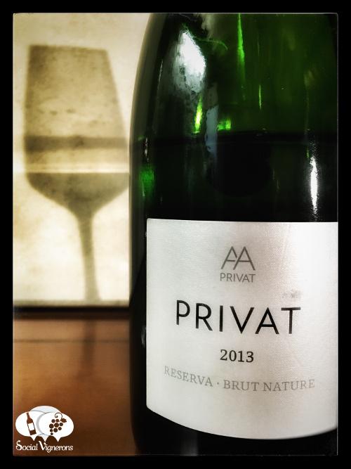 Alta Alella Privat Organic Cava Sparkling Wine Catalonia Spain front label Social Vignerons small
