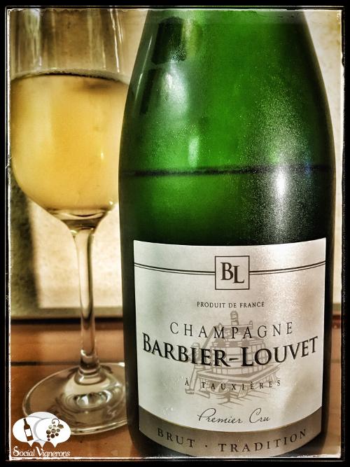 Champagne Barbier-Louvet Brut Tradition Premier Cru Non Vintage wine bottle front label social Vignerons small