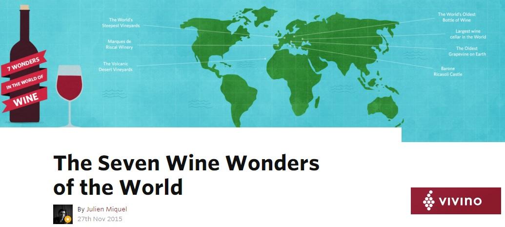 The Seven wine wonders of the world Vivino Article Julien Miquel