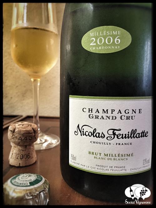 2006 Nicolas Feuillate Blanc de Blancs Millesime Chardonnay Grand Cru Champagne wine front label social vignerons
