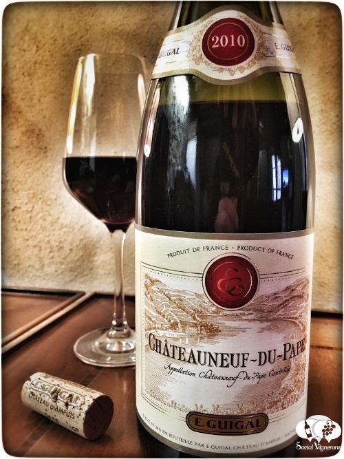 2010 E. Guigal Châteauneuf-du-Pape front label wine bottle Rhone France social vignerons