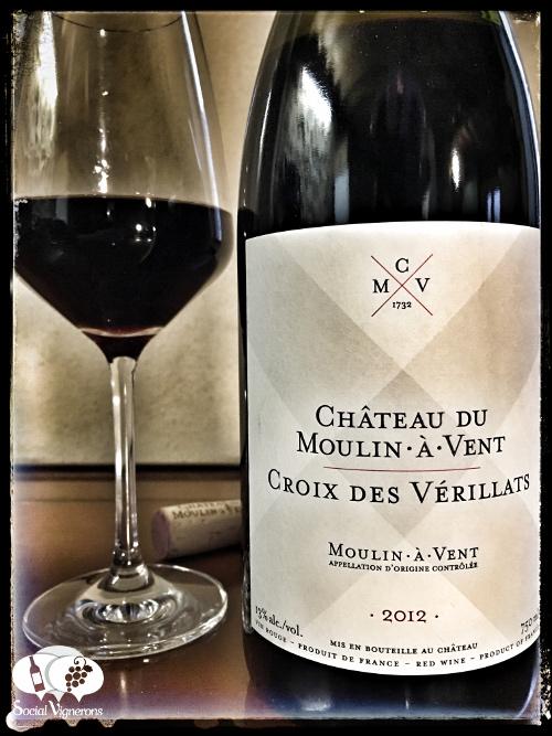 2012 Chateau du Moulin-a-Vent Croix des Verillats Beaujolais gamay front label social vignerons small