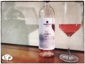 2015 Francois Chartier Le Rose Pays d'Oc IGP wine bottle glass social vignerons small
