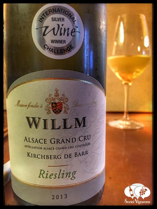 2013 Wilmm Kirchberg de Barr Riesling Grand Cru Alsace white wine front label social vignerons