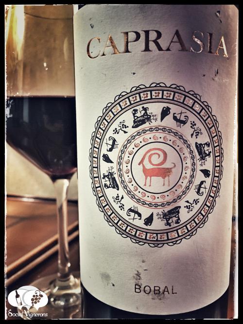 2014 Vegalfaro Caprasia Bobal red wine front label vino tinto pain utiel requena Social Vignerons