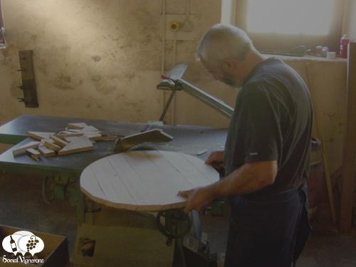 Assembling a WIne Barrel at Chateau Margaux Bordeaux Cooper cooperage social vignerons