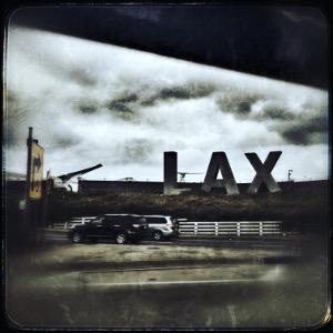 LAX Los Angeles Airport Sign Julien Miquel Social Vignerons
