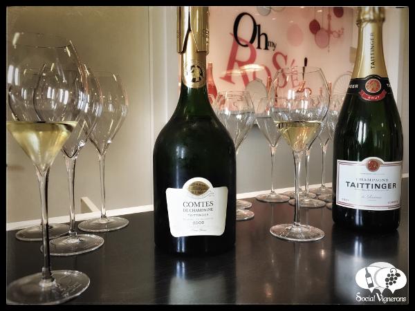 2006 Taittinger Comtes de Champagne Blanc de Blancs Chardonnay Grand Cru sparkling wine bottle in Reims HQ France