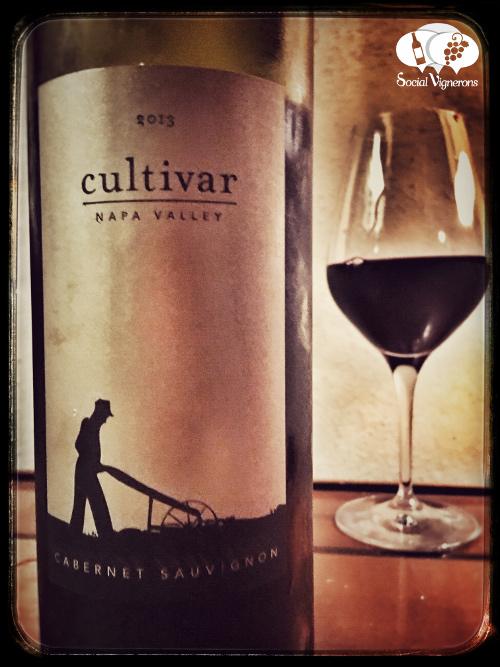 2013 Cultivar Cabernet Sauvignon Napa Valley wine bottle glass front label