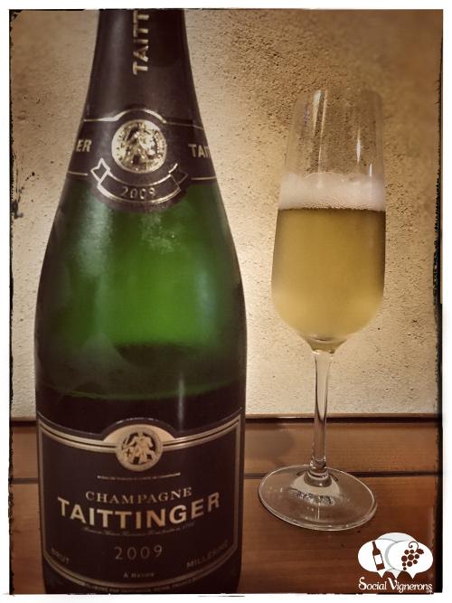 2009 Vintage Taittinger Brut Millesime Chardonnay Pinot Noir sparkling wine front label Champagne