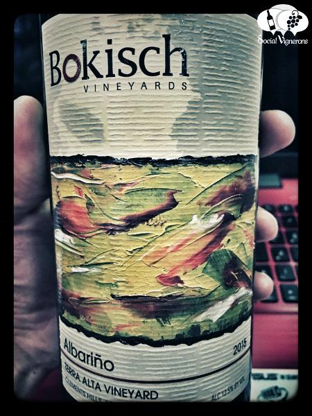 Bokisch Vineyards Albarinho Lodi California usa white wine label social vignerons