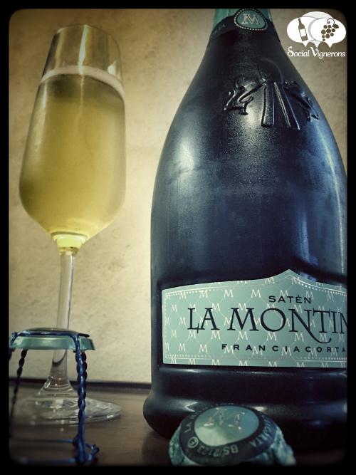 La Montina Franciacorta Satén Brut front label Sparkling from Italy Piedmont bollicine