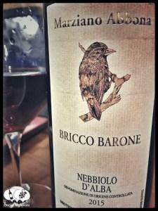 2015 Azienda Marziano Abbona Ricco Barone Nebbiolo d'Alba back label bottle glass