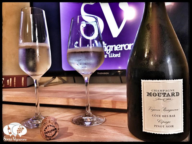 Champagne Moutard Vignes Beugneux Cotes des Bar Pinot Noir Brut : Personality & Concentration !