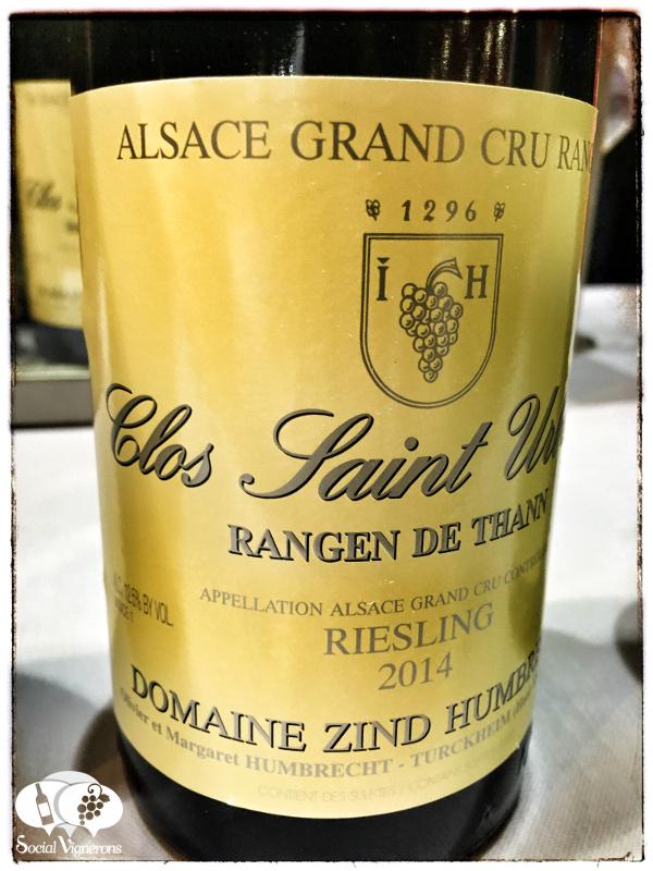 2014 Domaine Zind-Humbrecht Riesling Rangen de Thann Clos Saint Urbain, Alsace Grand Cru, France