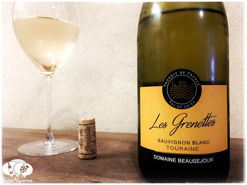 2017 Domaine Beausejour 'Les Grenettes' Touraine Sauvignon Blanc, Loire