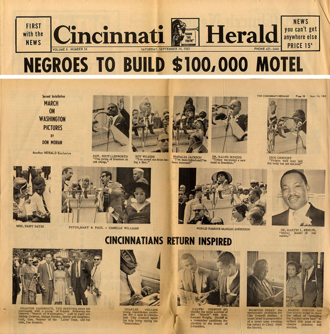 Cincinnati Herald from September 14th, 1963