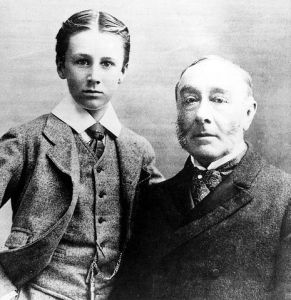 James with his son Franklin in 1895