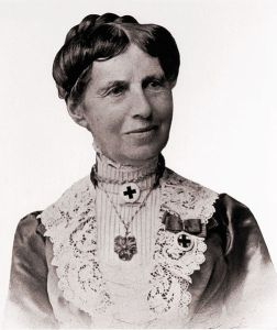 Clara Barton circa 1902 photographed in Saint Petersburg, Russia while attending the Seventh International Red Cross Conference
