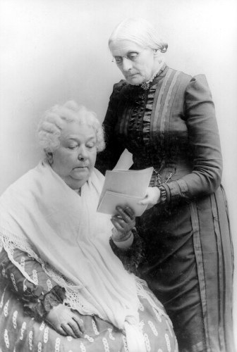 Elizabeth Cady Stanton with Susan B. Anthony