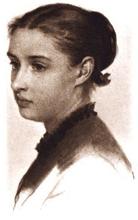 Crayon Portrait of Josephine Shaw Lowell, 1869.