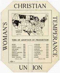 WCTU Prohibition placard (reverse)