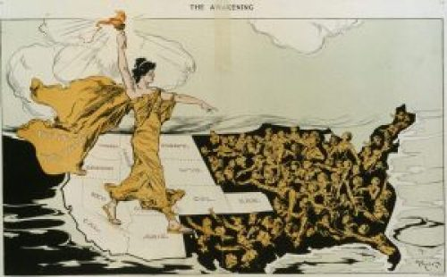Pro-suffrage Cartoon by Hy Mayer (1915)