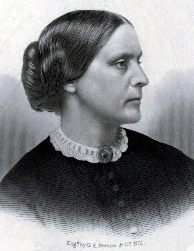 Public relations portrait of Susan B. Anthony, circa 1855