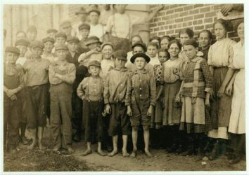 Group of Workers in Clayton, N.C. Cotton Mills, October 1912