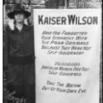 """During World War I, militant suffragists, demanding that President Wilson reverse his opposition to a federal amendment, stood vigil at the White House and carried banners such as this one comparing the President to Kaiser Wilhelm II of Germany."