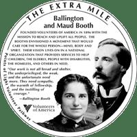 The Extra Mile medallion honoring Ballington & Maud Booth