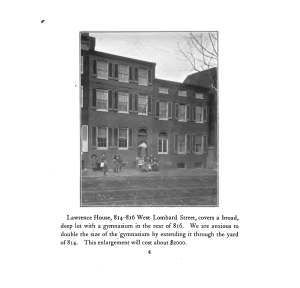 Lawrence House, 1905