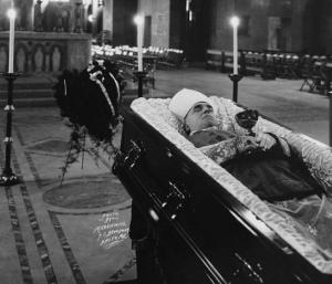 Shahan's Funeral in the crypt of the National Shrine of the Immaculate Conception. He died at age 75 and is the only person buried in the shrine.  The upper church was completed in 1959.