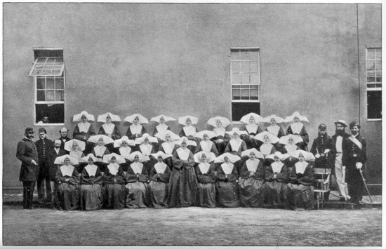The Daughters of Charity nursed thousands of wounded and dying at Satterlee Military Hospital in Philadelphia, one of the many locations at which they served