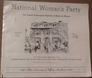 Flyer for the Silver Anniversary of passage of the Equal Rights Amendment in 1920.