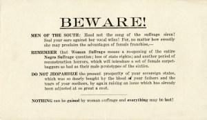 Beware! Men of the South