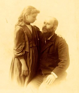 Helen Keller and Anagnos, 1891