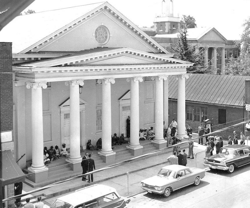 Kneel-in Protest, Farmville Baptist Church, 1963.