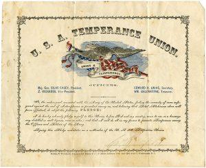 19th Century USA Temperance Union Pledge