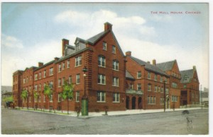 Hull House, Chicago, postcard