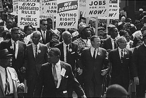 Walter Reuther (second from right) at the March on Washington, August 28, 1963