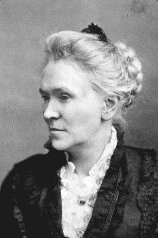 Photograph of Matilda Joslyn Gage seated and in profile
