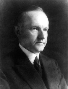 Calvin Coolidge photo portrait of head and shoulders