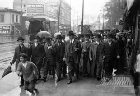 William Dudley Haywood at the 1913 Paterson Silk Strike