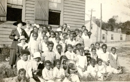 Young students with three teachers, probably from Assembly Training School, Richmond, Va.