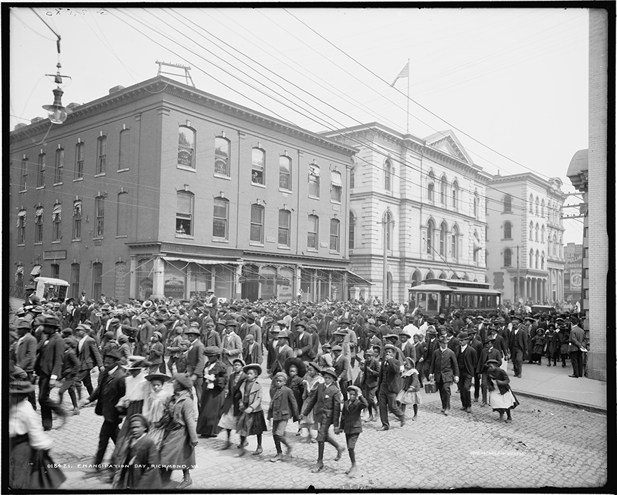 Emancipation Day parade Richmond VA photograph 1905